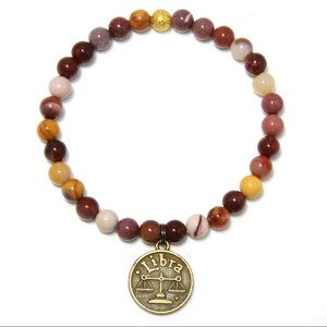 Jewelry - Multicolor agate bead stretch bracelet with coin